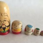 Традиционная японская игрушка Фукурума - прототип появившейся в России 19-го века Матрешки.
